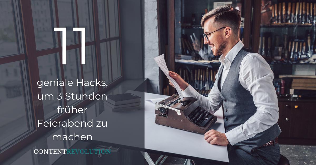 Willst du schneller schreiben? 11 Hacks, die dich sofort zu einer menschlichen Schreibmaschine machen